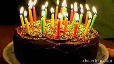 bolo e velas