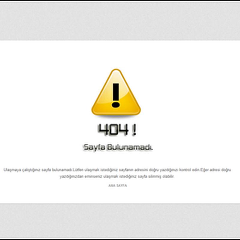 Özel 404 Hata Sayfası Oluşturun