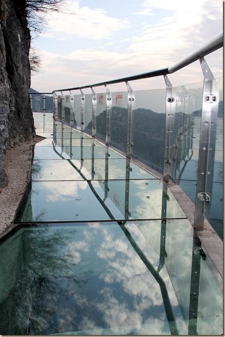 Impressionnante passerelle de verre de la montage de Tianmen (4)