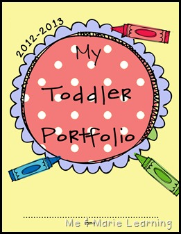 portfolio cover page toddler copy