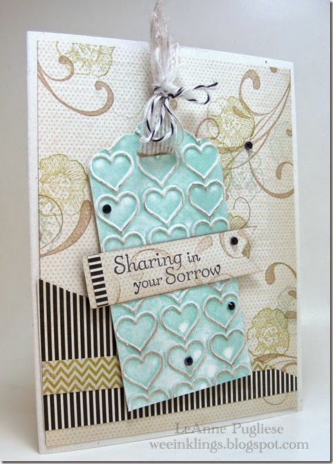 LeAnne Pugliese WeeInklings Sympathy THoughts and Prayers Stampin Up
