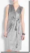 L'Agence Silver Wrap Dress
