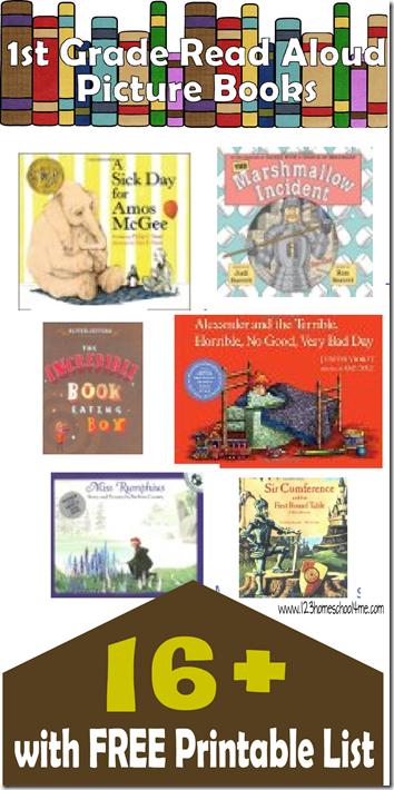 16+ Favorite 1st Grade Picture Books #1stgrade #homeschool #education #bookrecommendations #bookstoread