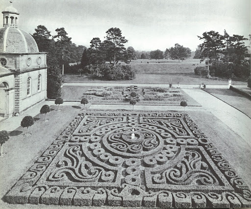 This amazing box garden and formal parterre sits on the property of Castletown in County Kilkenny and designed by architect Davis Ducart.
