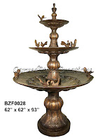 3-Tiered Fountain with Birds