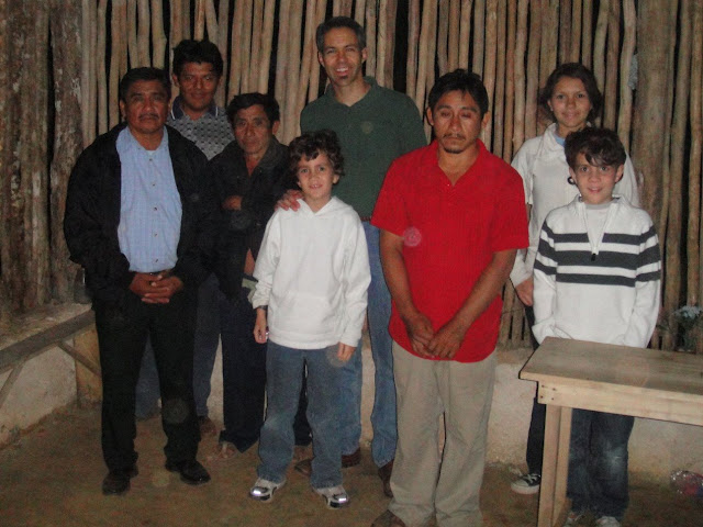 The kids and I posing with Pastor Tomás Reyes (back left) and some of the members of his church.