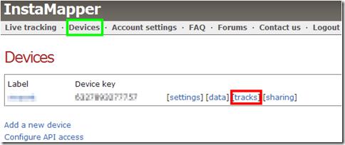 InstaMapper.com localizzare dispositivo