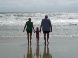 Beach time with Grandma and Grandpa. (July)