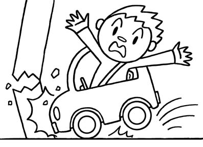 ACCIDENT SCENE COLORING PAGES