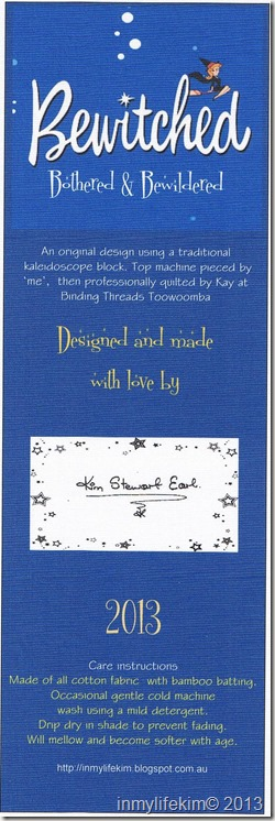 Bewitched Quilt Label 001
