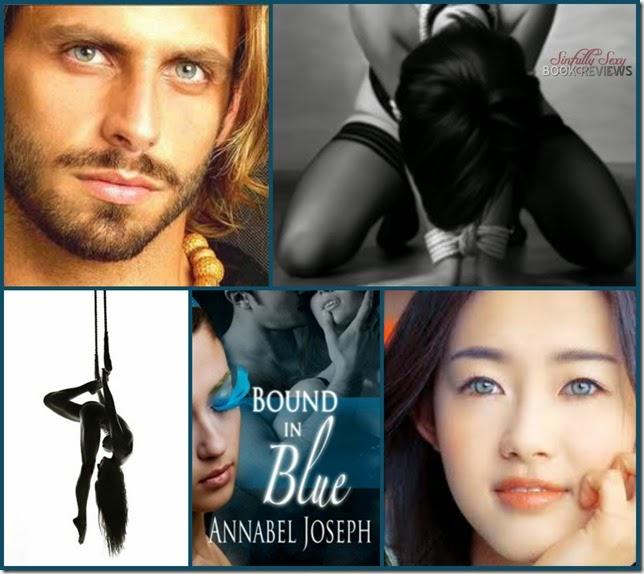 bound in blue collage