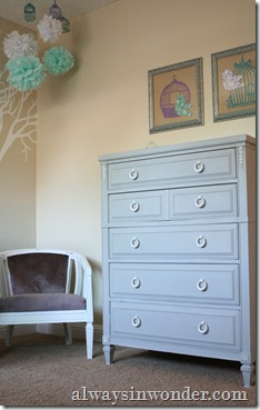 antique dresser painted in Annie Sloan Paris Grey (10)