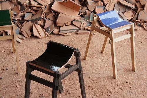 Những chiếc ghế độc đáo từ gạch ngói