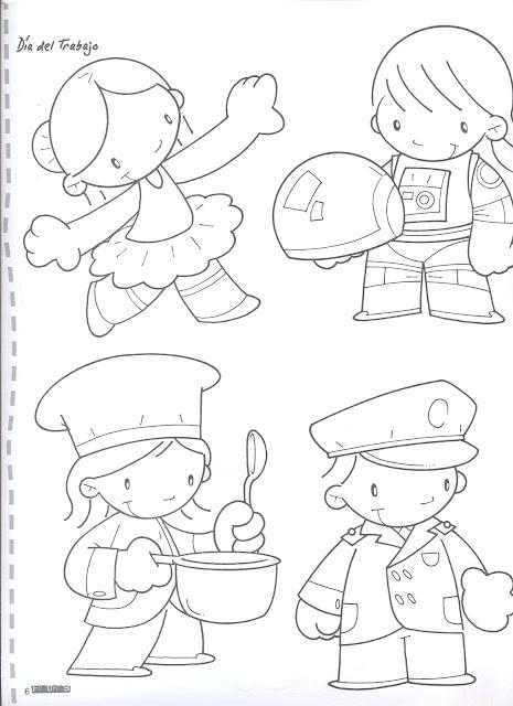 Dibujos Y Actividades Para El Dia Del Trabajador Manualidades