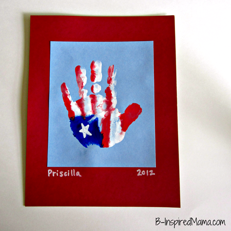Patriotic Hand Print Craft 1