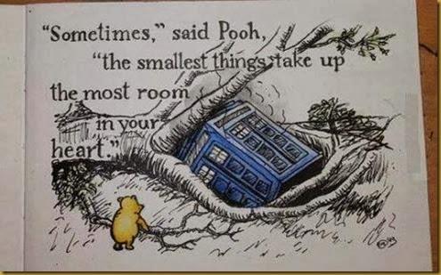 TARDIS and winnie the pooh