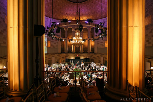 The gorgeous Gotham Hall event space as seen from above. Brides streamed in around 10AM then headed upstairs for our all-star panel.