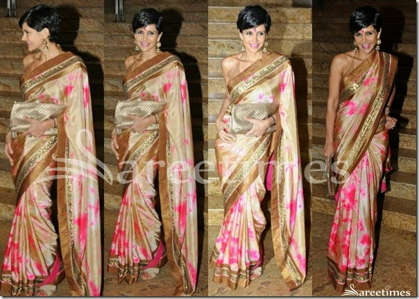 Mandira_Bedi_Cream_Printed_Saree