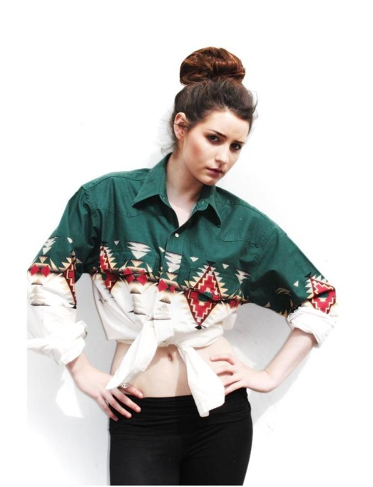 Vintage Navajo Oversized Shirt, £39.95, Mighty Baby