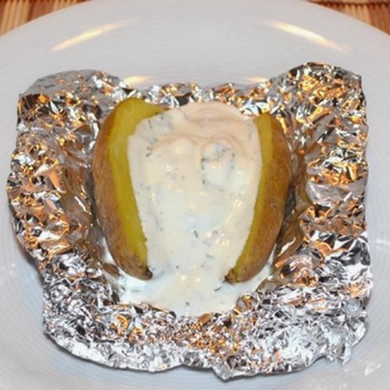 Πατάτες φούρνου με σως