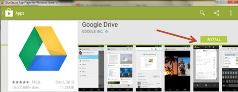 ติดตั้ง Google drive ใน Android