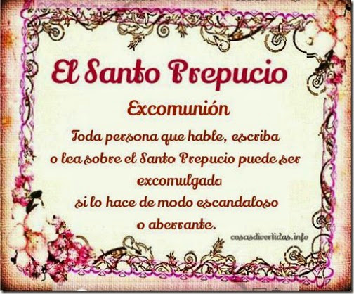 el santo prepucio excomunion 1v 1