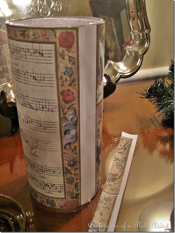 CONFESSIONS OF A PLATE ADDICT Wisteria Inspired Sheet Music Candles