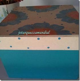 Caixa costura azul