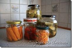 Agurker, chili og morgenfruer