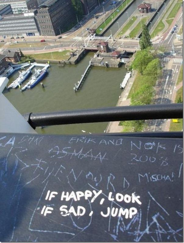 Se está feliz, olhe. Se está triste, pule.