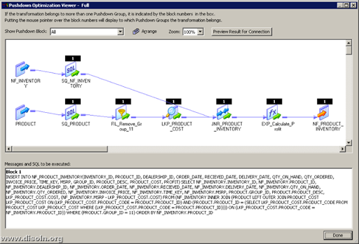 Informatica PowerCenter Pushdown Optimization viewer
