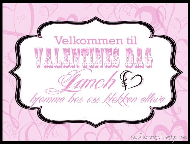 valentines dag invitasjoner lunch
