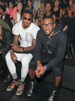 NEW YORK, NY - SEPTEMBER 08: NBA players Iman Shumpert and John Wall attend the Y-3 Spring/Summer 2014 runway show during Mercedes-Benz Fashion Week on September 8, 2013 in New York City.  (Photo by Jemal Countess/Getty Images for Y-3)