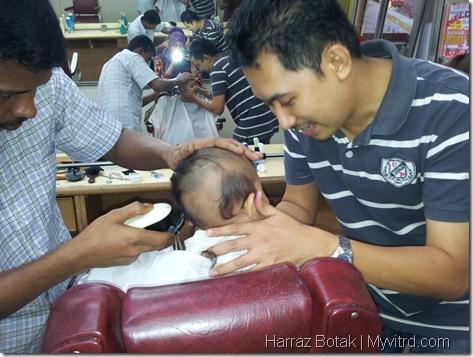 Aksi Harraz Gunting Rambut 6