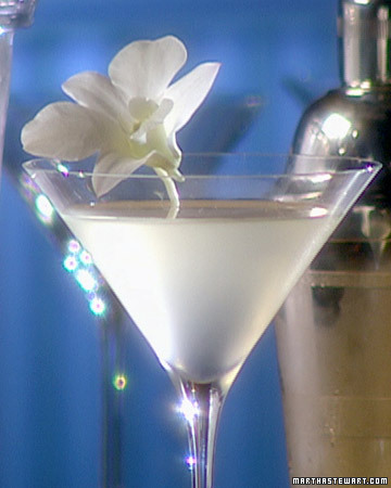 White-cranberry juice, vodka, and Cointreau is all you need to whip up a White Cosmopolitan.