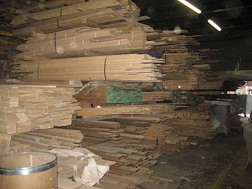 All the wood is separated by species.