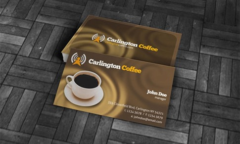 Coffee and Cefeteria Business Card Template