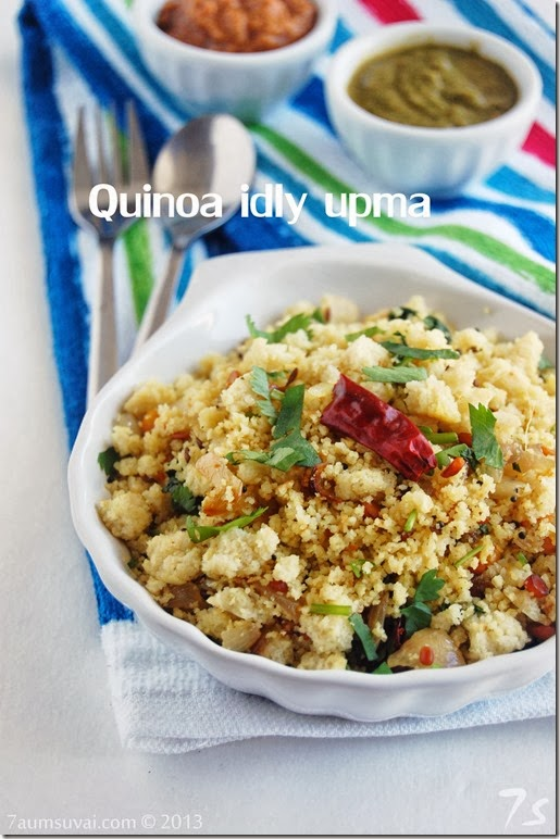 Quinoa idly upma