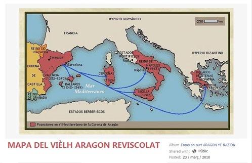 Mapa del Vièlh Aragon Reviscolat