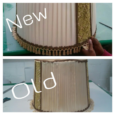The lampshade studio do you remember this old lampshade we worked on this week cant believe its the same one just 50 years younger a facelift can make a change keyboard keysfo Choice Image