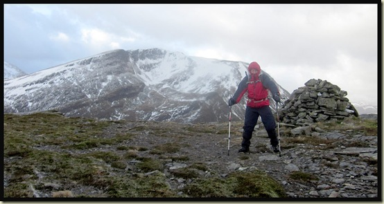 Meall Odhar summit - 656 metres - a trifle breezy