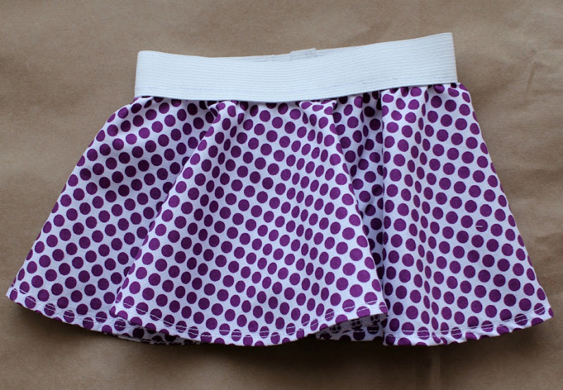purple dot circle skirt