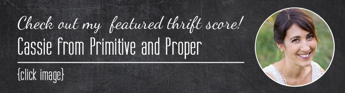 Thrift Score Thursday <br /><br />Cassie