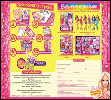 Mattel Malaysia Barbie Loyalty Campaign 2013