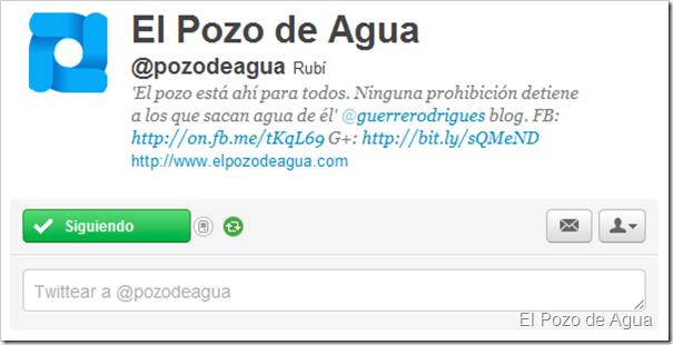 El Pozo de Agua en Twitter (@pozodeagua)