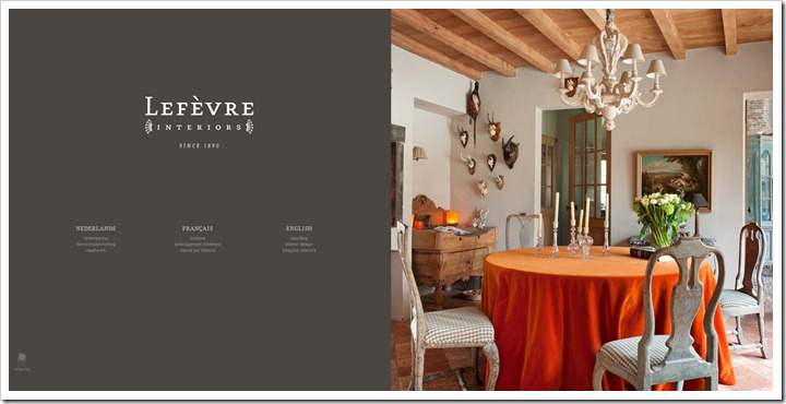 Lefèvre Interiors website home page