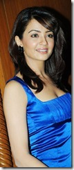 surveen chawla in blue dress