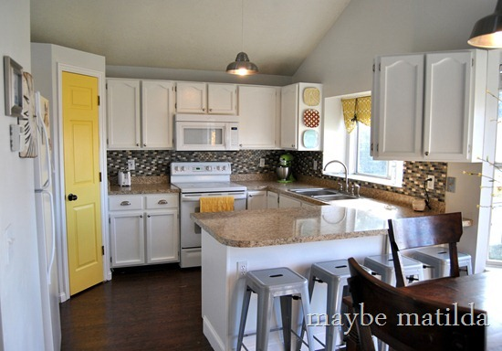 Gray and Yellow Kitchen Renovation
