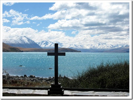 The view across the altar in the Church of the Good Shepherd, Tekapo.