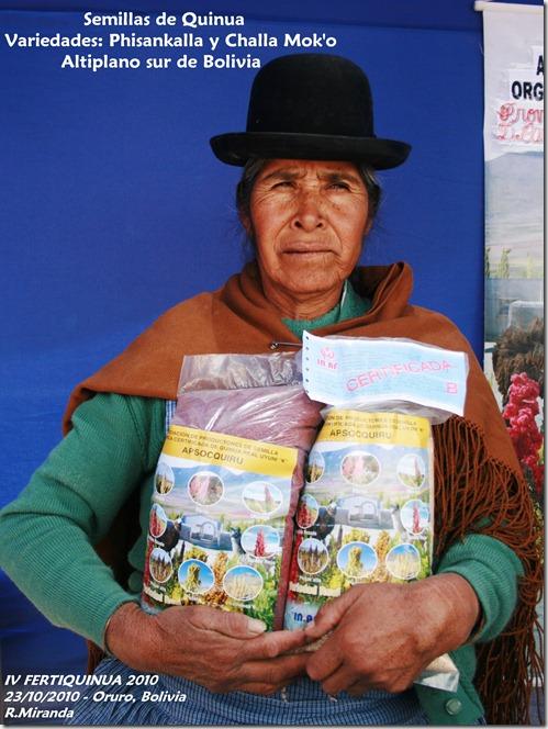 Semillas de Quinua Real de las variedades Phisankalla y Challa mok'o - Rubén Miranda - Laquinua.blogspot.com